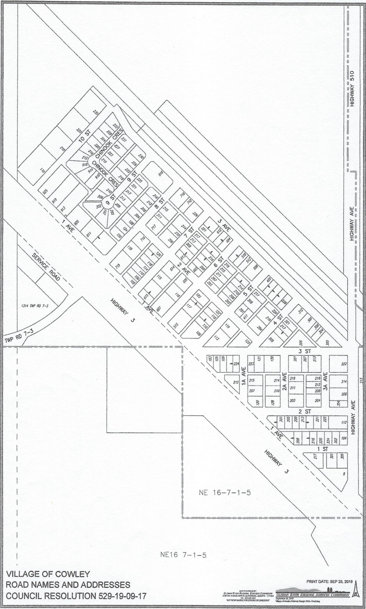 Cowley Map